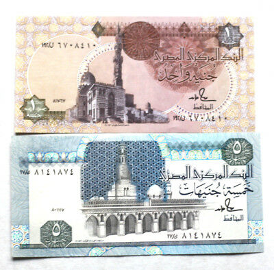 1+5 Pounds, Bank of Egypt, 1976.-2001.