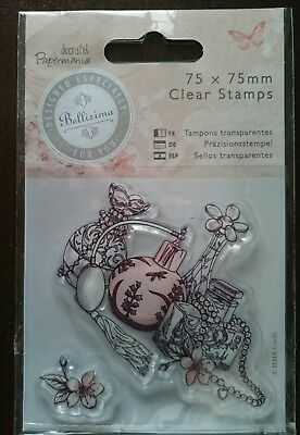 Stempel clear stamps Bellisima docrafts papermania Parfum perfume