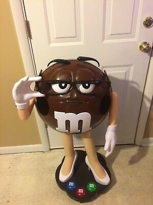 M & M Store Display Ms Brown Candy Character Rolling 3 Feet Tall