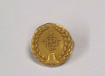 14k gold Service Vintage Pin - Pacific Telephone & Telegraph Co. -Bell  PT&T