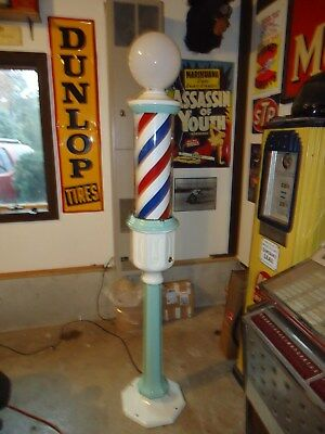 Antique Paidar Barber Pole Nice For  Man Cave or Barber Shop
