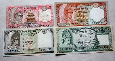 5+10+20+100 Rupees, Bank of Nepal, 1982.-87.