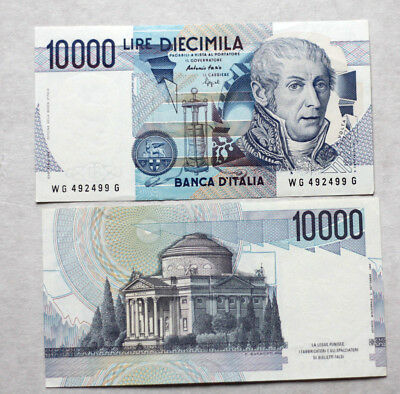 2x10.000 Lire, Bank of Italy, 1984.