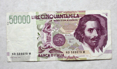 50.000 Lire, Bank of Italy, 1992.