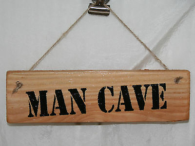 MAN CAVE SHED Door Sign Plaque Garage Workshop Garden Wood Garden Outdoors Fun