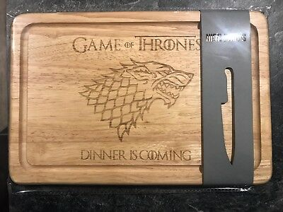"""Game Of Thrones """"Dinner is coming"""" Laser Engraved Custom Chopping cutting Board"""