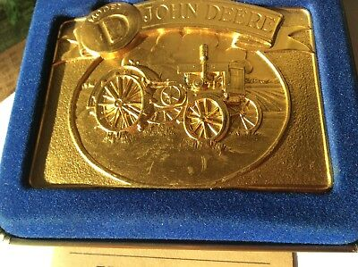 John Deere 1988 Model D Tractor Limited Edition Gold Belt Buckle  sn 0229 of 600