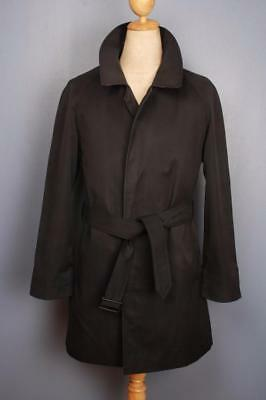 Superb Mens BURBERRY Single Breasted Short TRENCH Coat Mac Navy Size 36
