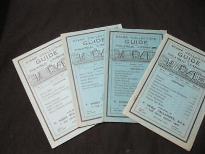 4 x STAMP COLLECTOR'S GUIDE TO PHILATELIC LITERATURE No's 3-6 by VALLANCEY 1947