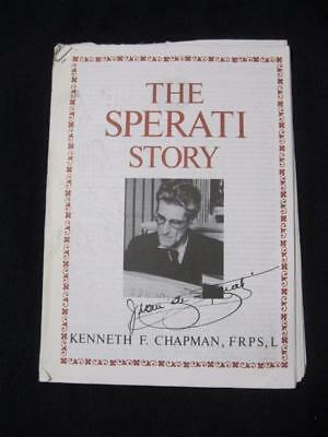 THE SPERATI STORY by KENNETH F CHAPMAN