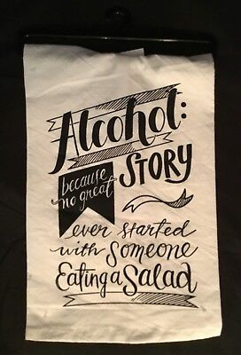 BRAND NEW! Alcohol Story. Because No Great Story ever started Pub Bar/Tea Towel