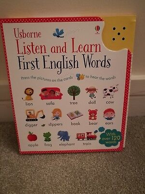 Brand New Book Usborne Listen and Learn First English Words, Noisy,...