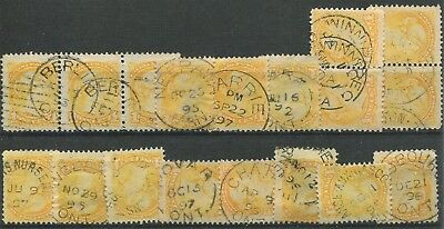 Canada #35 Used Small Queen Wholesale Lot F/vf Dated
