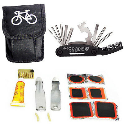 Bicycle Bike Cycling Puncture Multi Function Spanner Wrench Repair Tool Kit Set
