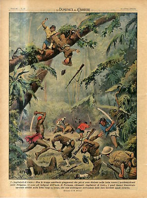 1942 WW2 Formosa' people called cutters of heads against US troop in Philippines