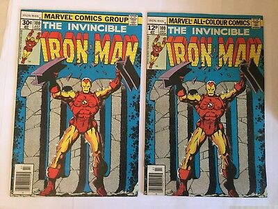 Iron Man # 100 UK and US price variants  - Both Very Fine