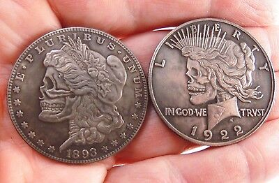 Zombie Morgan Coin / Peace Coin Double side Coin - Ultra Cool Two Headed Pressed