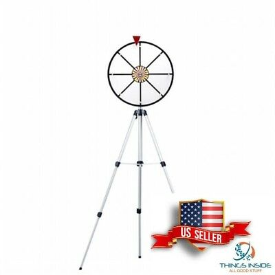 """NEW 16"""" White Dry Wheel Prize Wheel w/ Floor Stand by Brybelly us stock"""
