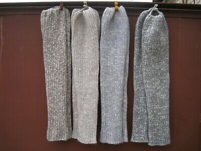 Homemade winter Ribbed Boot  Leg Warmers OVER KNEE HIGH 100% sheep wool  Russian