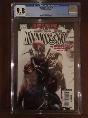 Thunderbolts 131 CGC 9.8 Francisco Mattina Deadpool June 2009 Only 8 on Census
