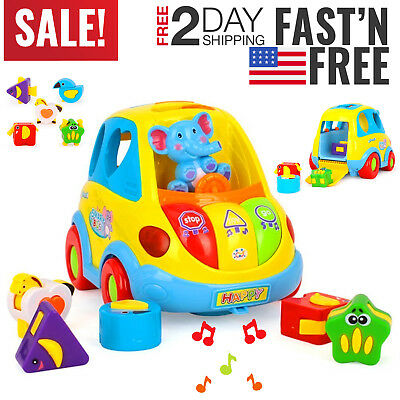 Toddler Baby Toys Boys Girls Music Car 6 12 18 24 36 Month Age Year Child Cool