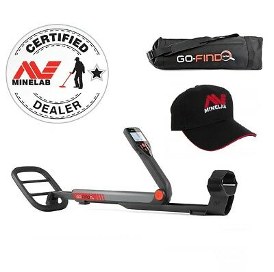Genuine Minelab Go-Find 60 Metal Detector With Free Carry Bag & Cap