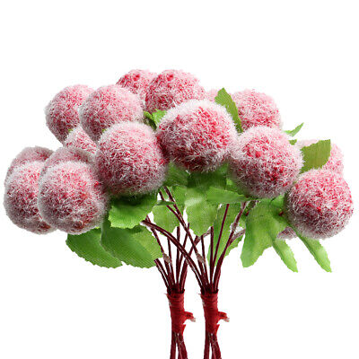 20 Pieces Artificial Foam Berries with Stems for Holiday Decoration Christmas