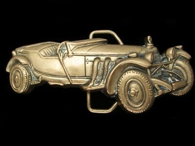 Qg13122 Vintage 1978 Cut-Out **antique Automobile** Solid Brass Baron Buckle