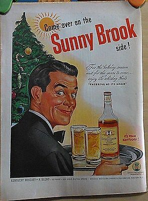 1947 magazine ad for Sunny Brook Whiskey - For the holiday season, Christmas ad