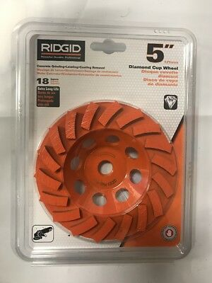 NEW  Ridgid 5'' Diamond Cup Wheel TAW5018P1