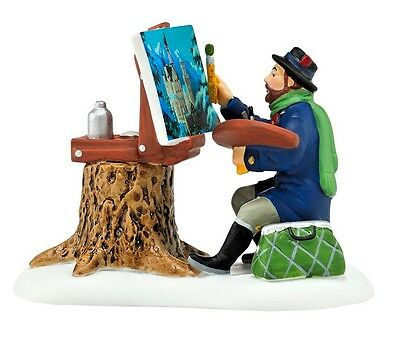 Plein Air Painter Alpine Village Series Dept 56 4044785 Christmas Snow NIB