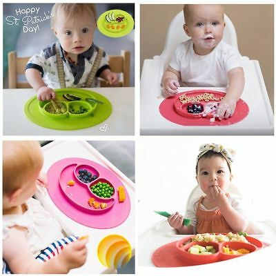 Cute Bowl Silicone Mat Baby Kids Child Suction Table Food Tray Placemat Plate UK