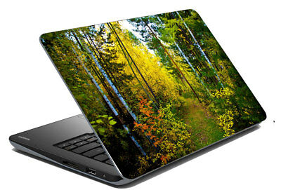 "Green Forest Laptop Skin Notebook Protector Art Cover Decal Fit 14.1"" x 15.6"""