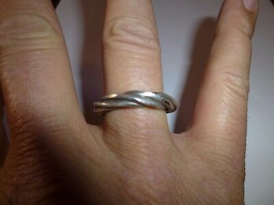 Superb Viking Silver Twisted Ring