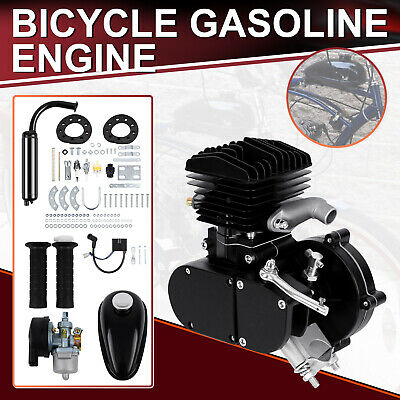 80cc 2-Stroke Motorised Bicycle Cycle Bike Petrol Gas Engine Motor Kit2.5L/100km