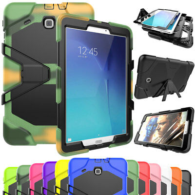 Heavy Duty Rubber Stand Protective Case Cover For Samsung Galaxy Tab S2 8.0 9.7