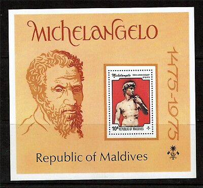 Maldive Is 1975 Michelangelo SG MS 612 MNH