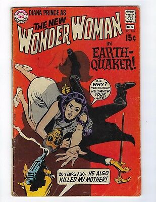 The New Wonder Woman # 187 DC Earth Quaker (1970)