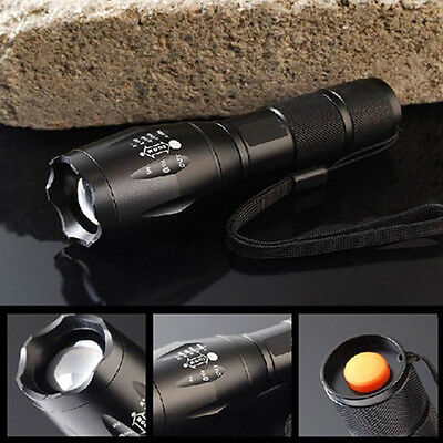 8000LM  X-XM-L T6 LED Flashlight Zoomable Waterproof+18650 Battery+Charger BE