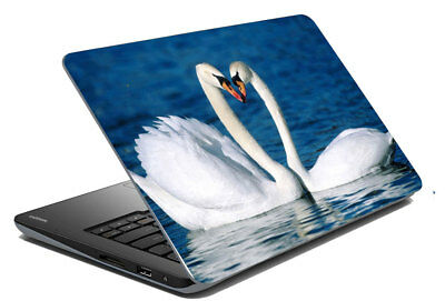 "Swan Laptop Skin Notebook Protector Art Cover Decal Fit 14.1"" x 15.6"""
