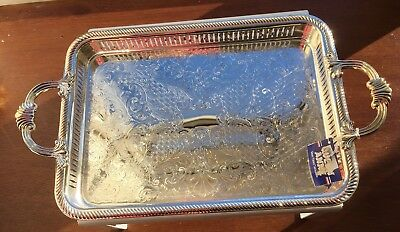 Stunning Queen Anne Silver Plated Tray / Platter Unused Brand New