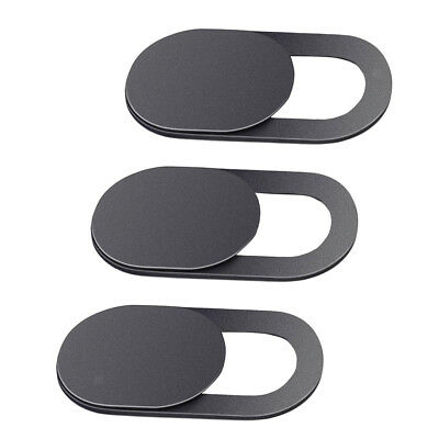 3 Pack Black Webcam Cover for Privacy Open or Close with One Simple Movement