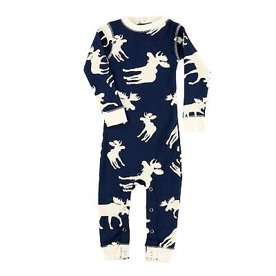 LazyOne Boys Classic Moose Blue All-in-One Flapjack Infant