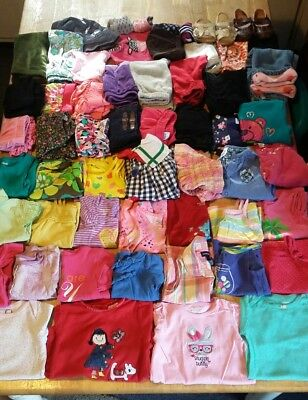 Huge 61 piece lot of baby girl clothes size 18months, shirts,pants,etc