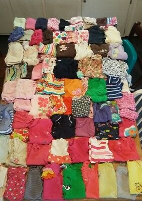 Huge 90 pc lot baby girl clothes sizes 6month,6-9month and 9month