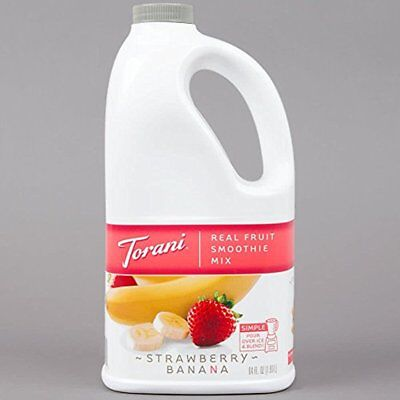 Smoothies Torani Strawberry Banana Real Fruit Smoothie Mix, 64 Oz New In Pack