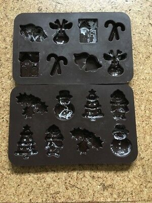 Christmas Chocolate Moulds, Pair, Silicone