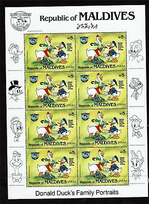 Maldive Is 1984 Donald Duck SHEET SG 1070 MNH