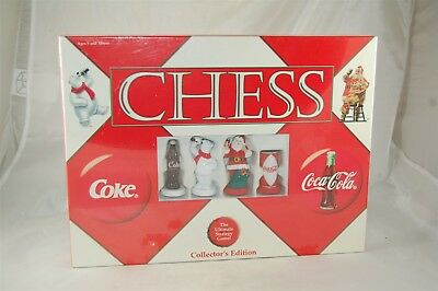 Coca Cola Coke Chess Set Game Collector's Edition 2002 Holiday Christmas Sealed