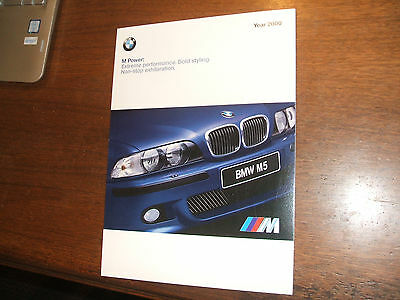 2000 BMW M Power Sales Brochure M3 M5 MCoupe MRoadster Z3M MZ3   47 pages
